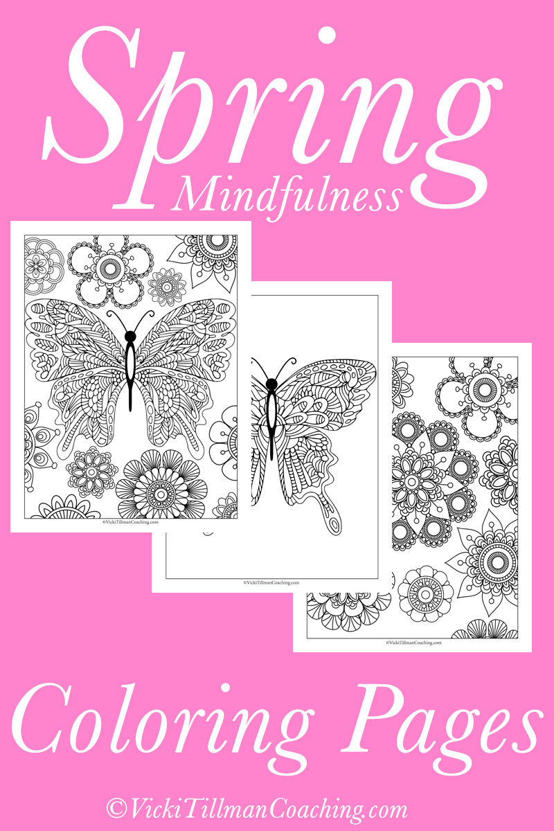 Spring Mindfulness Coloring Pages Vicki Tillman Coaching