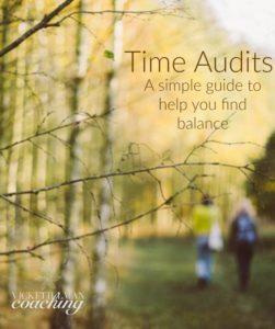 Time Audit: Get Life Balance VickiTillmanCoaching.com