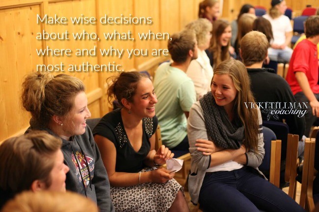 Make wise decisions about authenticity VickiTillmanCoaching.com